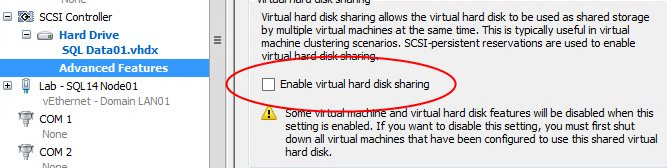 shared vhdx - общие кластерные диска в windows server 2012 r2