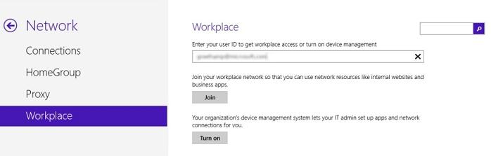 Параметры workplace join в windows 8.1
