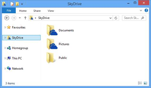 Интеграция skydrive в windows 8.1