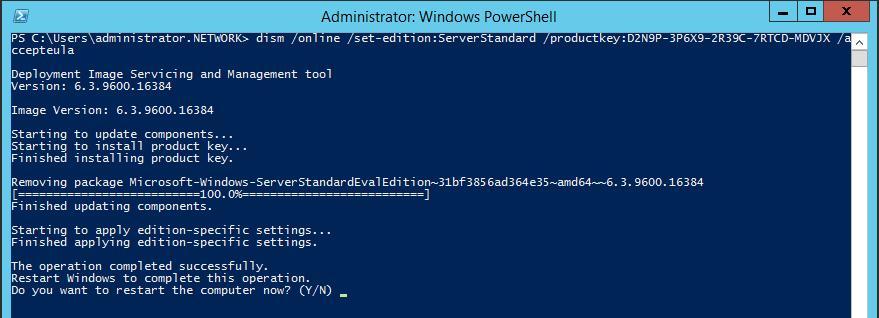 проапгрейдить windows server 2012 r2 с trial версии