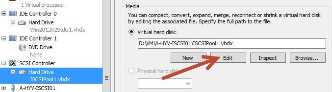 Править настройки vhdx диска
