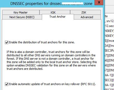 Репликация trust anchors между DNS серверами Active Directory