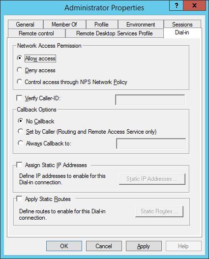 Разрешить пользователю vpn доступ