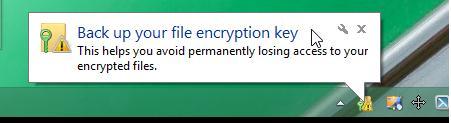 резервное копирование ключа шифрования