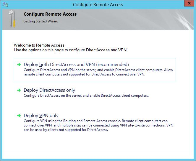 deploy vpn only windows 2012r2