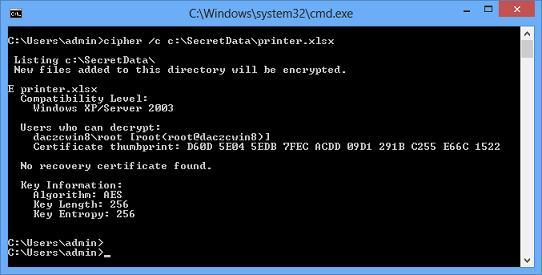 Пользователь, зашифровавший файл с помощью efs