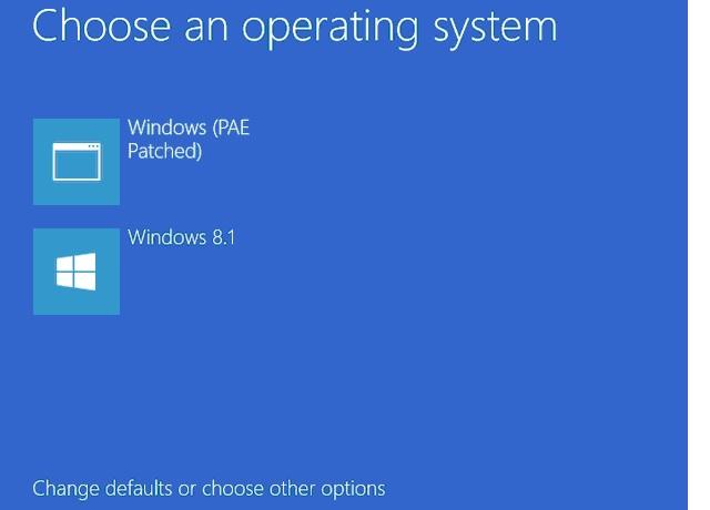 windows 8 загрузка в режиме PAE