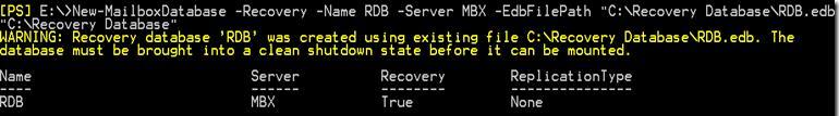 Exchange 2013 создаем Recovery database