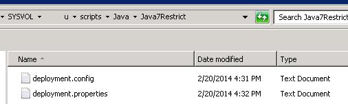 файл настройки java - deployment.config