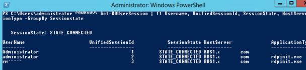 Get-RDUserSession Powershell