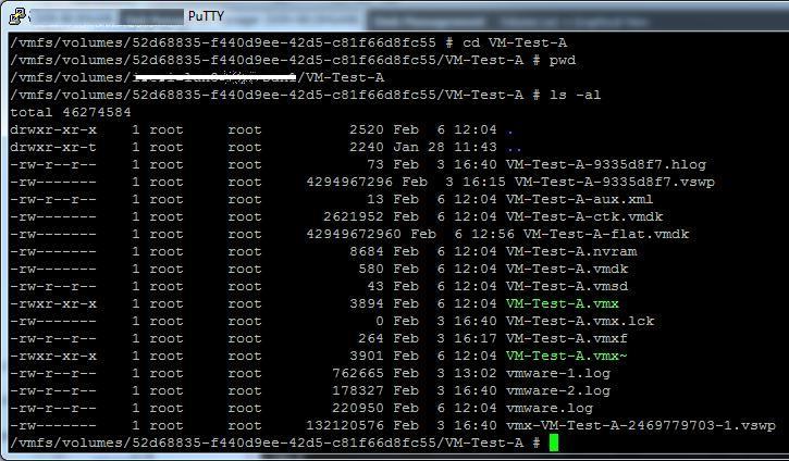 Каталог с файлами виртуальной машины vmware