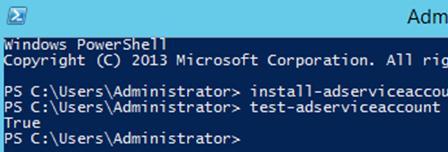 Install-ADServiceAccount - установка gMSA учетной записи на сервере
