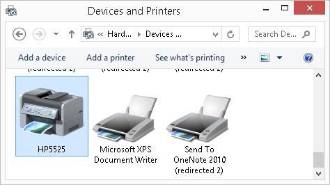 Новый принтер в системе windows8