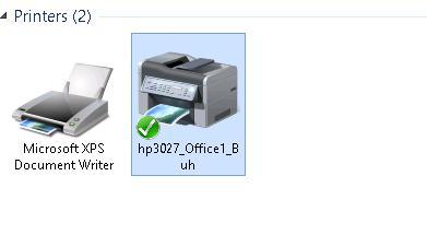 Принтер hp 3027 появился в системе