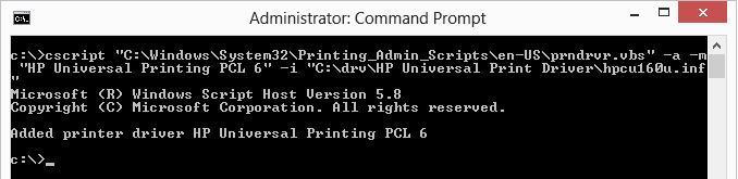 prndrvr.vbs скрипт установки драйвера печати принтера