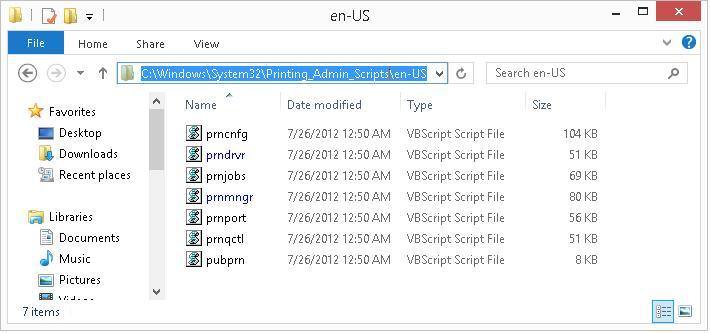 windows 8 vbs скрипты для управления принетрами и заданиями из командной строки