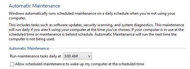 Отключить пробуждение для автоматическое обслуживание системы в windows 8