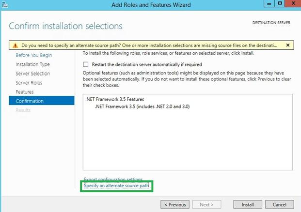 Путь к каталогу дистрибутива windows server 2012 r2