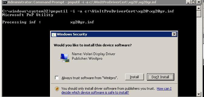 Установка самоподписаного драйвера в windows 7