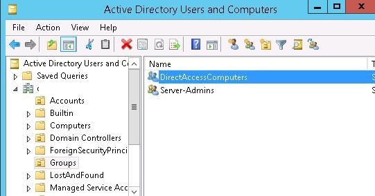 Группа компьютеров в AD, которым разрешен доступ через DirectAccess