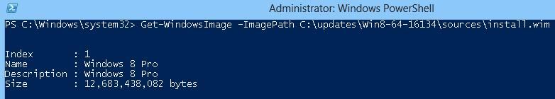 Узнаем версии Windows, которые содержатся в файле install.wim