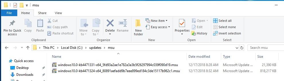 msu обновления windows 10