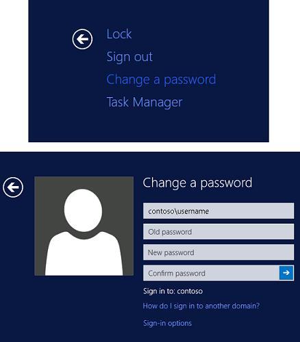 windows server 2012 изменить пароль пользователя в rdp сессии