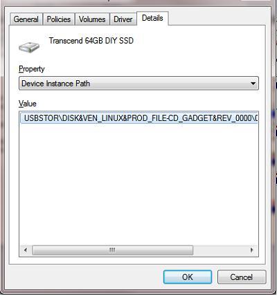 Определяем идентификатор устройства usb флешки