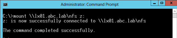 mount - команда монтирования сетевого каталога nfs