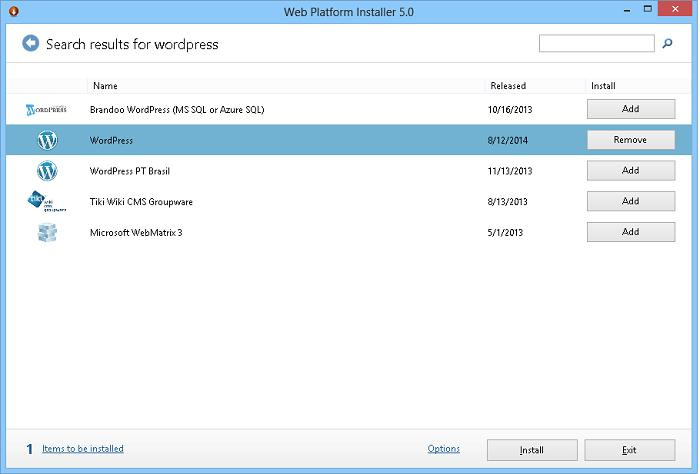 Установка WordPress на IIS в windows