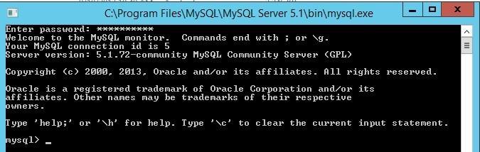 mysql.exe - командная оболочка субд mysql