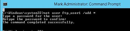 Создаем пользователя ftp