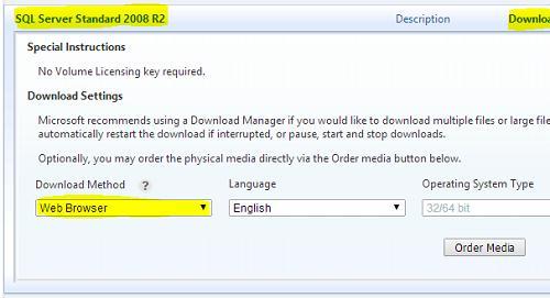 Качаем msdn версию sql server