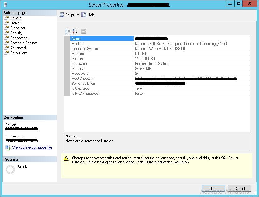 Определить текущую версию SQL Server