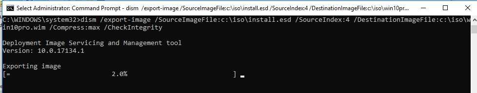 конвертация install.esd образа в install.wim