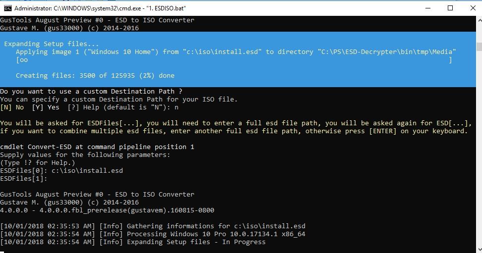утилита ESD-Decrypter для конвертации образа