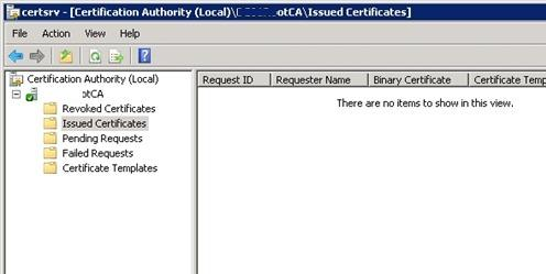 Выданные сертификаты