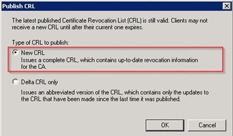 New CRL