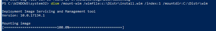 dism смонтировать wim файл windows