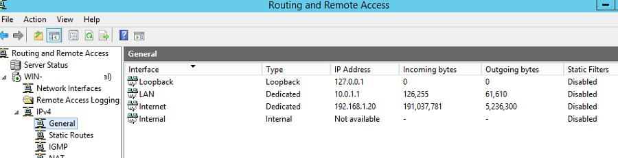 Простейший роутер на базе Windows Server 2012 R2