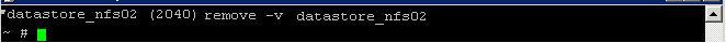 Удалить неактиваное NFS хранилище