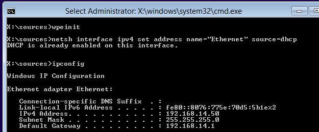 Получение сетевых настроек с DHCP
