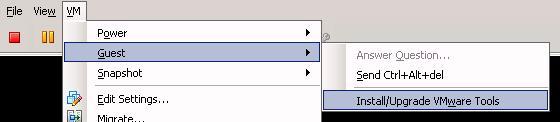 Vmware монтируем диск с VMWare Tools