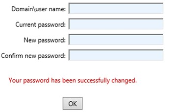 rdweb сброс пароля пользователя Your password has been successfully changed