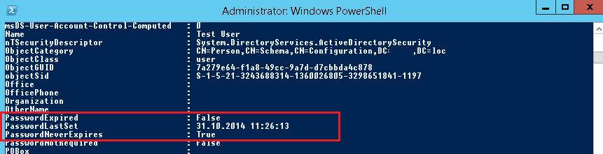 Get-ADUser - все свойства пользователя в Active Directory