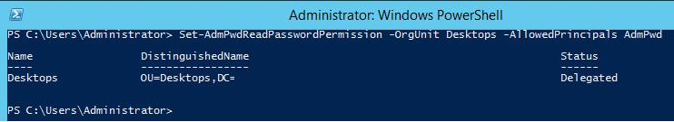 Set-AdmPwdReadPasswordPermission