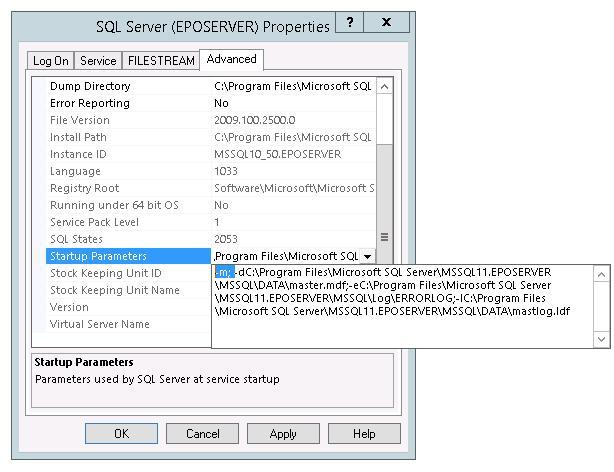 Сброс пароля администратора MS SQL 2012