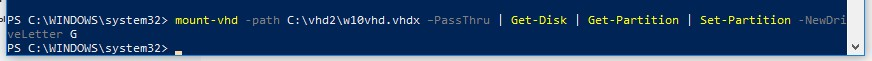 mount-vhd powershell скрипт для монтирования vhdx файла
