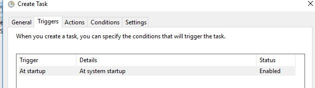 запуск задания при загрузке Windows