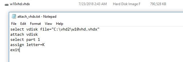 Автоматическое монтирование VHDx дисков в Windows